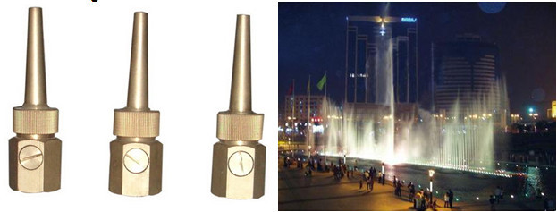Factory provide various shape water nozzles durable decrorative fountain nozzles