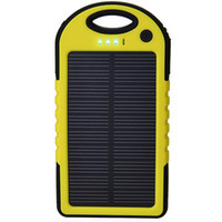 5000mAh Portable Solar Charger Waterproof Solar Power Bank Dual USB With Flashlight For iPhone 4s 5c 5s Mini PC Tablet (NY012)