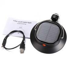 Hanging portable 60 LED USB port emergency solar camping lamp