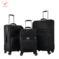 best seller supply 3 pcs royal polo luggage trolley travel case bags set with good workmanship