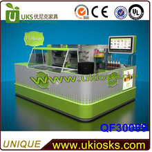 Healthy vegetarian yoghurt kiosk frozen yoghurt kiosk design finished by shine baking paint for sale