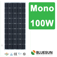 Bluesun high efficient best price mono 100w stand for solar panel