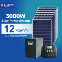 100W Alibaba Trade Assurance Supplier waterproof complete home solar power system 3000W
