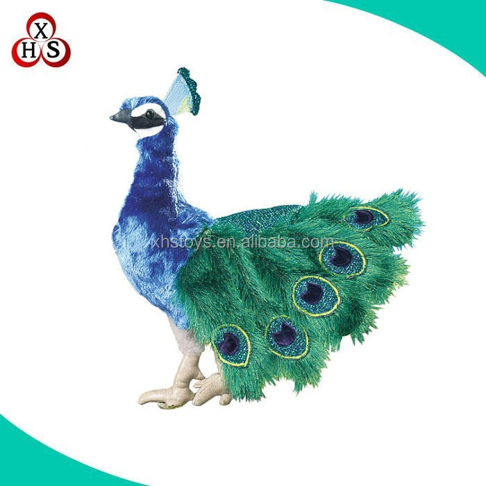 plush toy factory customized peacock plush stuffed toys in shenzhen