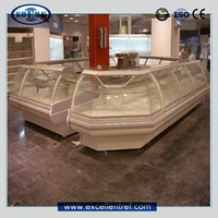 display service counter of arc glass type with 1180 depth can be cold cabinet or dry heat or water heat