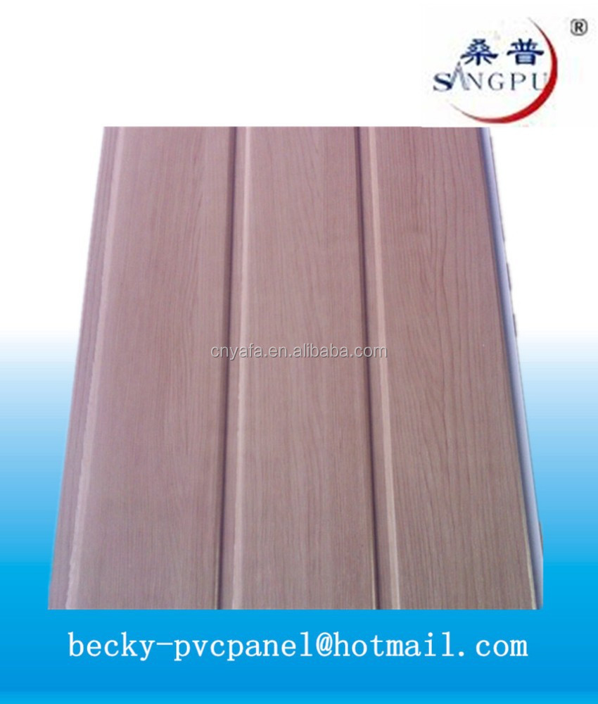 wood grain laminated pvc wall panel for interior decoration