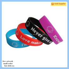 High quality gifts wrist bands wholesale promotion rubber silicone wristband