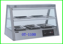 Kitchen Equipment For Restaurant With Best Price Buffet Stainless Steel Food Warmer Glass Showcase(OT-1100)