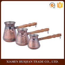 New style three size set bronze stainless steel coffee warmer pot