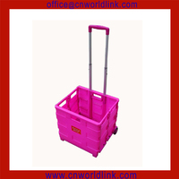 Used for Shooping Folding Push Cart /Plastic Hand Trolley