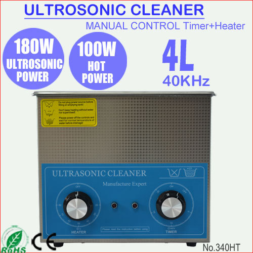 340HT 4L Stainless Steel Manual Ultrasonic Parts Cleaner with Heater