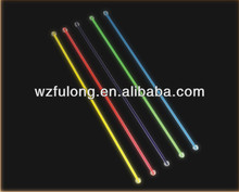 colorful plastic cocktail stirrer