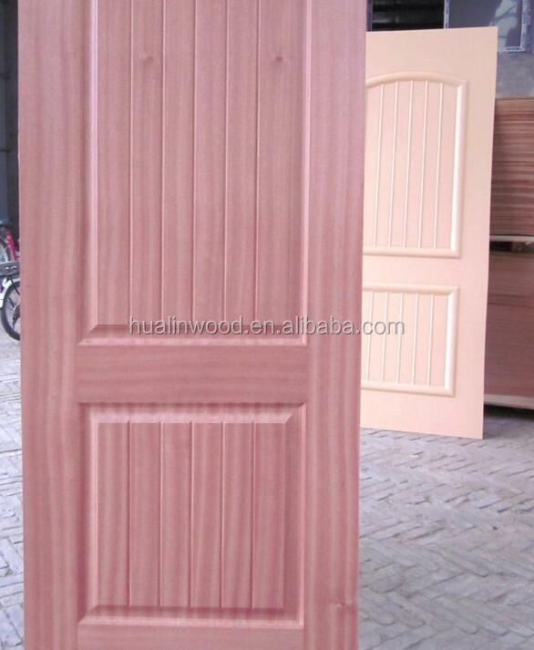 sapele wood veneer hdf molded door skin