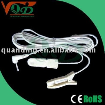 medical ear clip tens lead wire for tens machine