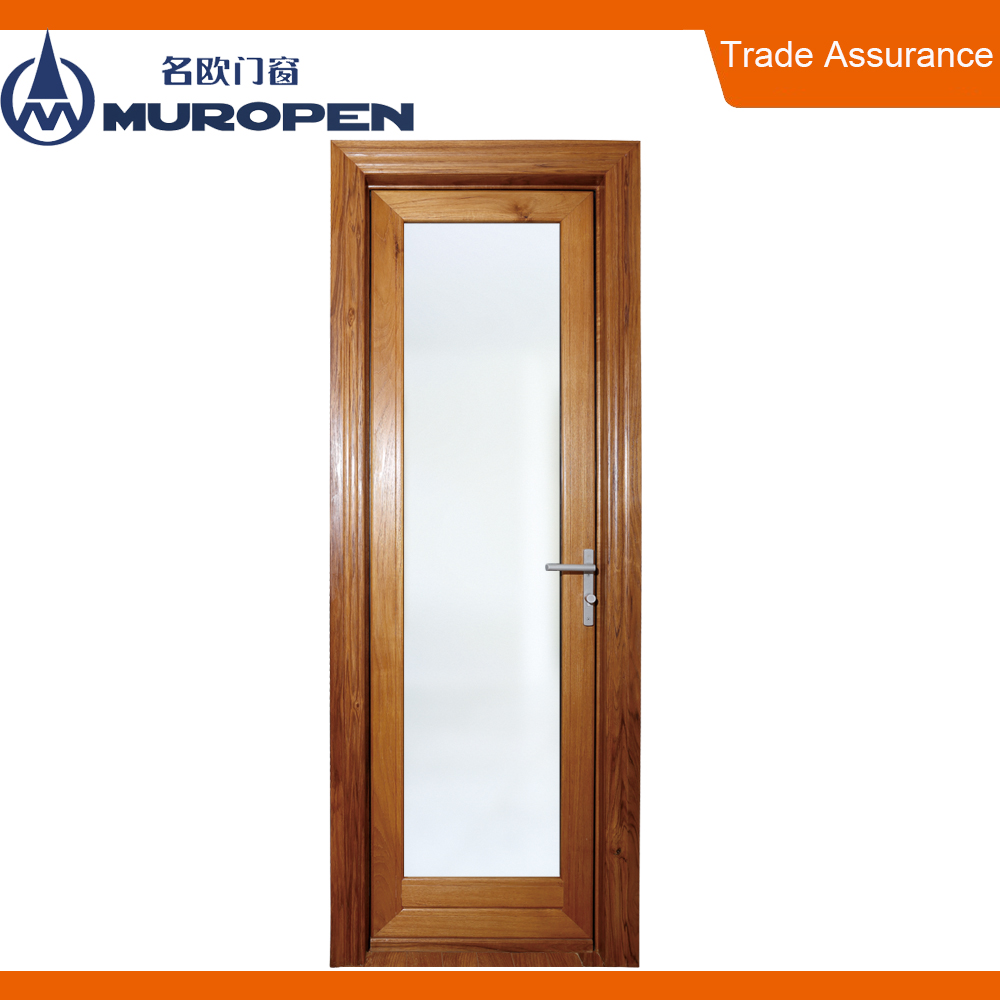 Aluminum plain white bathroom door aluminum bathroom tempered sliding glass door
