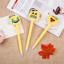 Top fashion simple design funny expression feather pen from China