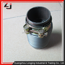Flexible Exhaust Pipe wholesale middle corrugate pipe with one clamp