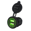 Best Selling New Design Car Boat Motorcycle Dual USB Ports Car Charger with Plug Socket