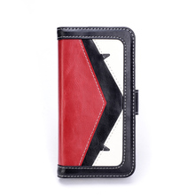 Durable tpu and synthetic leather flip cover case for smartphone