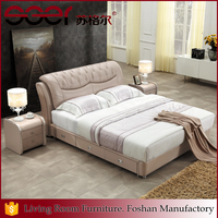 Best wood metal frame new style double bed designs