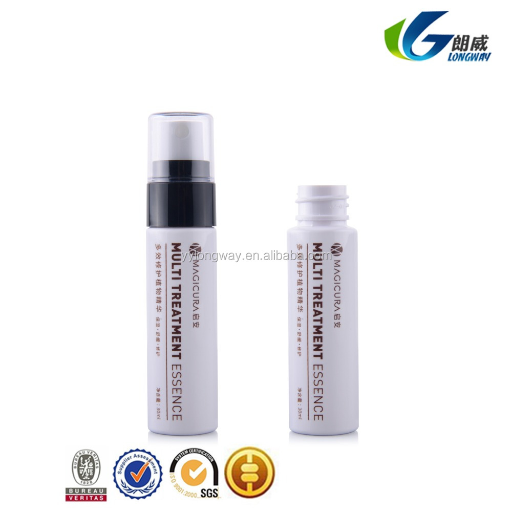 pump spray sealing type silk screen surface handling plastic liquid recycling 30ml pet bottle