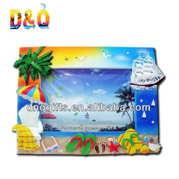 Tourist Beach Scene Resin Souvenir Frames - Buy Ornate Resin Frame ...