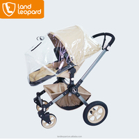 Baby stroller equipped with rain cover, sun canopy, saving basket, sleeping cradle and seat unit to satisfy customers' demands