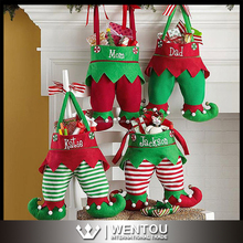 Wholesale Christmas Monogrammed Elf Stockings