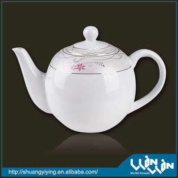 porcelain arabic tea pot in silver design