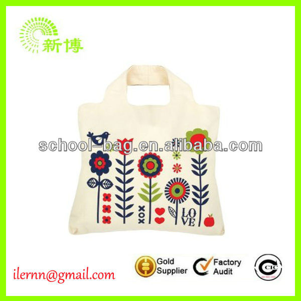 Promotional colorful calico library bag
