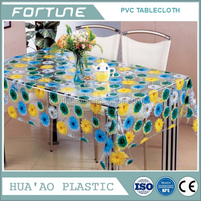 pvc transparent tablecloth in roll non toxic