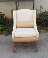 Antique Home Furniture Living Room Single Seater Leisure Wood Sofa Chair