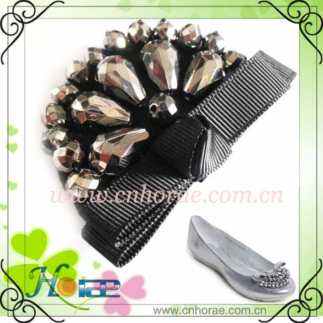 acrylic beads and ribbon lady shoes accessories 2013