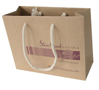 twisted handle kraft paper bag for clothing factory