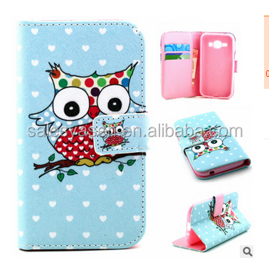 Hot Fashion SleepingOwl Printed Wallet Stand Leather Polka Dots owl leather case for iPhone 6 ,for 6s/6s/6s plus