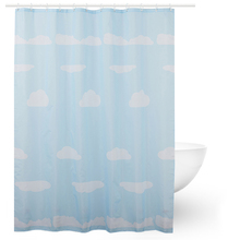 100% Polyester Fabric Blue Sky Waterproof Fancy Shower Curtain