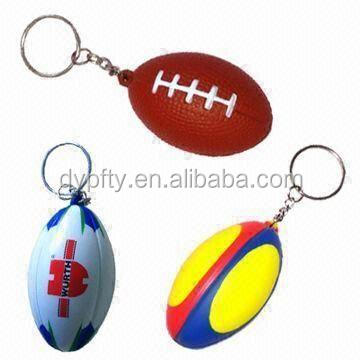 new product custom rugby keychain for promotion