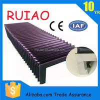 Free samples PVC plastic nylon dust proof bellow cover with steel plate for cutting machine