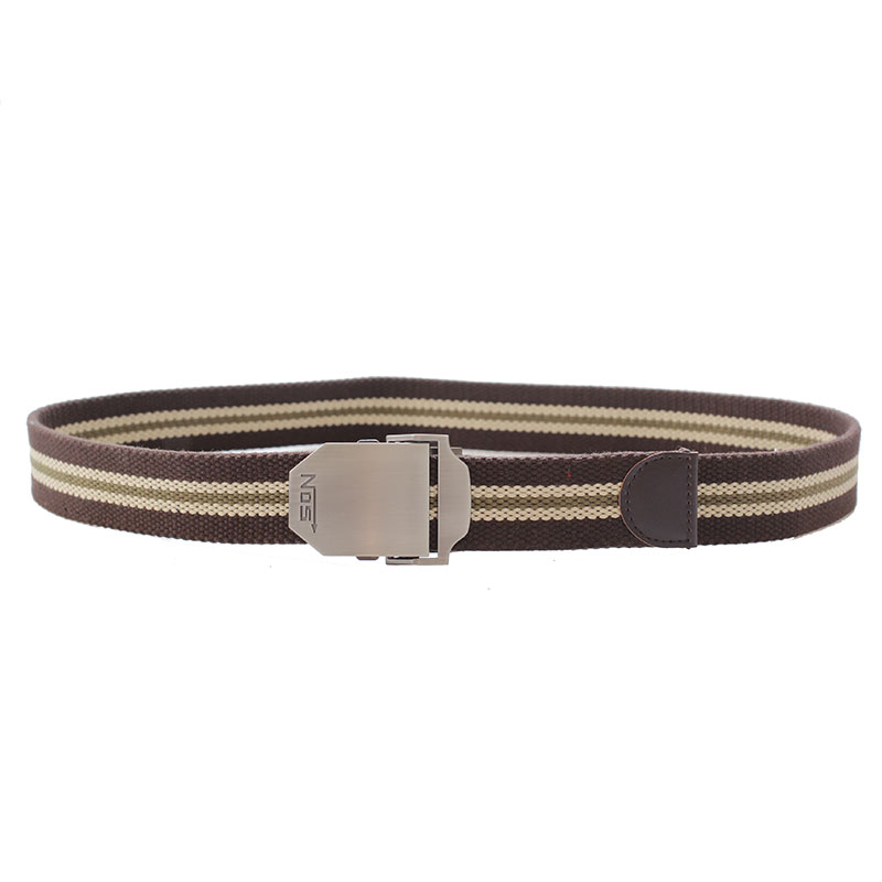 hot selling Fashion custom polyester men fabric belt with metal buckle