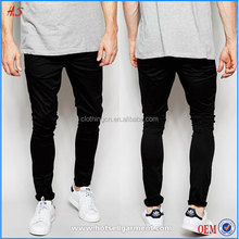 Most Popular Wholesale Product Black Super Skinny Man Chino Pants With Twill Canvas Chinos