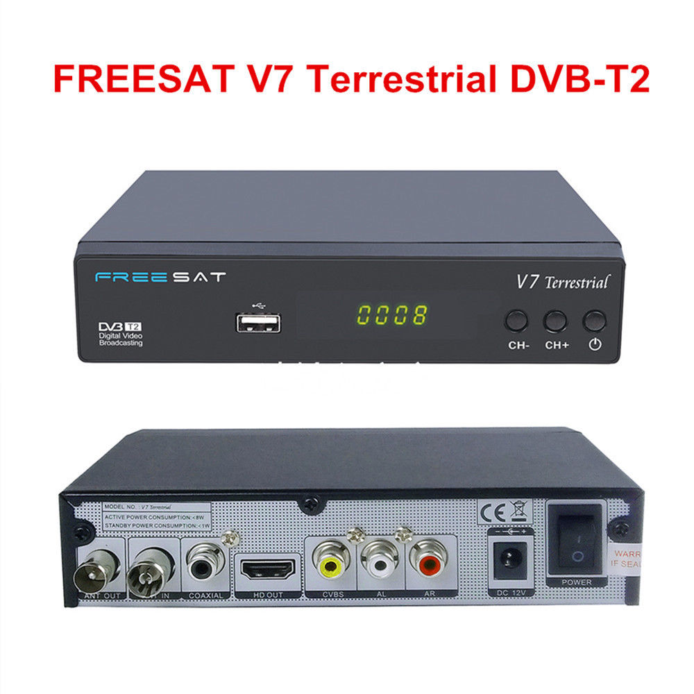 Discount FTA 1080P Digital Receiver DVB-T2 DVB-T Freesat V7 Terrestrial for Africa European Middle East
