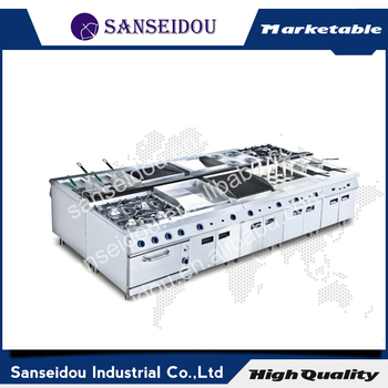 Sanseidou hot sale top stainless steel electric cooking range