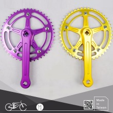 Taiwan bike parts hollow crank set stylish fixie bicycle chainwheel