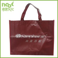 Women's fashion cloth packing non-woven shopping bag with glossy lamination