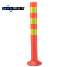Orange PU material driveway safety caution concrete bollard