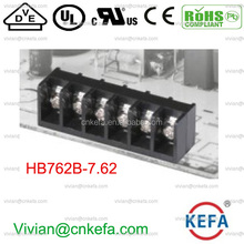 7.62mm pitch KEFA Barrier terminal block 24A side pin wire cable socket terminal connector electric right pin connector HB762B