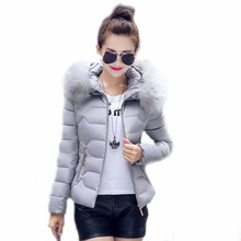 New winter jacket women Fake fur collar down wadded jacket female cotton-padded coats and jackets woman winter