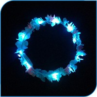 2015 Hot Beach Party Decoration Led Flashing Wholesale Hawaii Leis