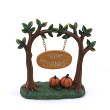 Harvest miniatute resin pumpkin wellcome board crafts