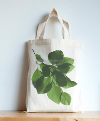 Eco friendly beech leaves mini cotton cloth tote bags plain